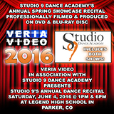 Veria Video In Association With Studio 9 Dance Academy presents the studio's annual dance recital held on Saturday, June 4, 2016 at 1PM & 6PM.